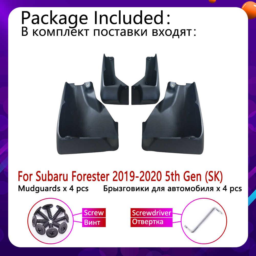 4 pièces Avant Arrière Voiture Bavettes pour Subaru Forester SK 2019 ~ 2020 Garde-Boue Garde-Boue Rabat Éclaboussures Bavettes Garde-Boue Accessoires 5th Gen