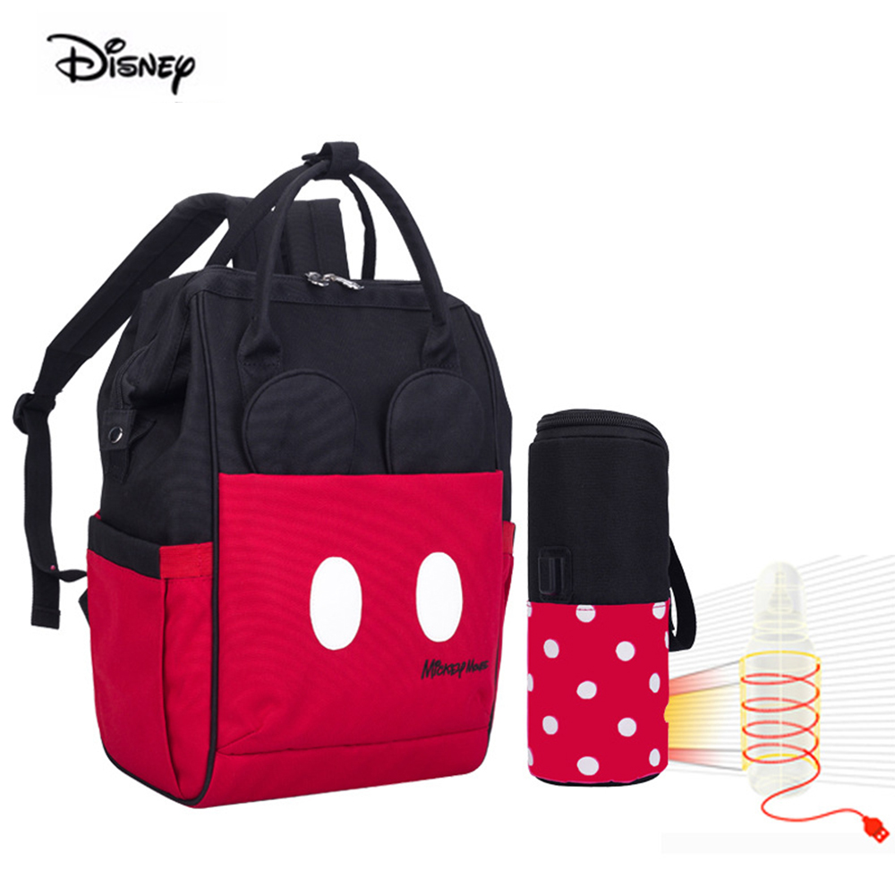 Disney New Style Diaper Bag Fashion Large Capacity Mommy Bag Shoulder Mickey Cartoon Pattern Out Mother's Bag