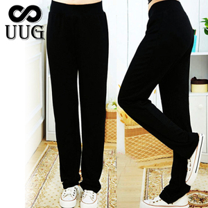 Image 2 - UUG גדול גודל נשים של ישר מכנסיים סתיו אלסטיות גבוהה מותניים מכנסיים בתוספת גודל 4xl 3XL XXL גבירותיי מכנסיים שחור אביב מכנסיים