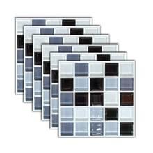 3d adesivos de parede à prova de óleo de telha criativa elegante adesivos de parede removível auto-adesivo casa arte simulação adesivos à prova dwaterproof água