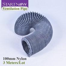 Startwnow – tuyau de Ventilation Flexible en tissu Nylon, tuyau de Ventilation en toile plastique, dia-100 mm, 3 m/Lot