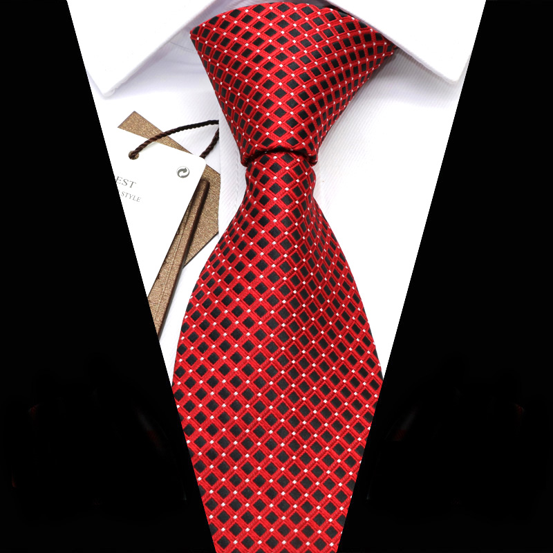 YISHLINE 40 Color Mens Ties 2020 New Dots Jacquard 8CM Man Tie Neck Ties Solid Bridegroom Wedding Party Tie Men Accessories