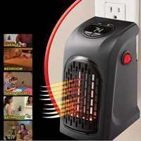 Aquecedor de parede elétrico mini portátil aquecedor de espaço pessoal para aquecimento interno acampamento qualquer lugar termostato ajustável