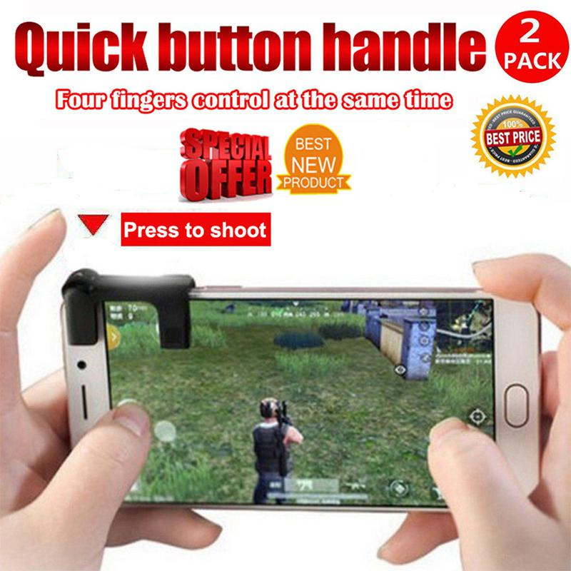 1Pairs Mobile phone Game Fire Button Controller and joystick Survival Game grip Triggers for Knives Out/PUBG/Rules