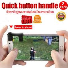 Pairs Mobile phone Game Fire Button Controller and joystick Survival Game grip RHiMISSLHiMISS Triggers for Knives Out/PUBG/Rules(China)
