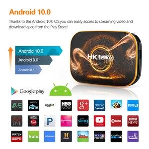 Image 3 - 2020 אנדרואיד 10 טלוויזיה תיבת Hk1 מקסימום 4GB 128GB TVbox חכם הטלוויזיה BOX Rockchip RK3318 4K 60fps USB3.0 Google PlayStore Youtube ממיר