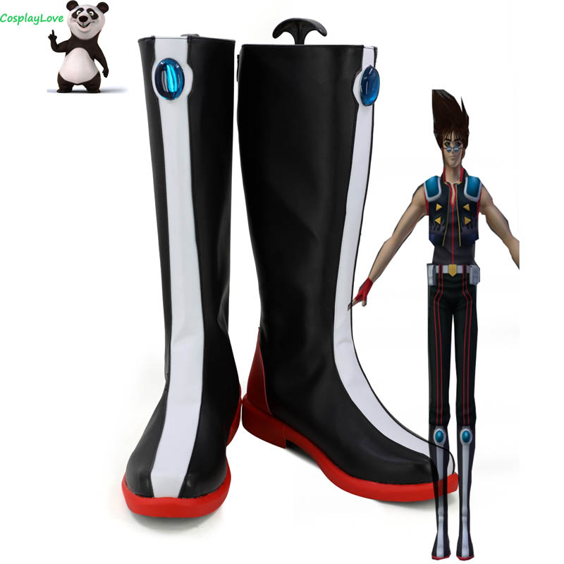 The Super Dimension Fortress Macross Basara Nekki Black Cosplay Shoes Long Boots Leather CosplayLove For Halloween Christmas