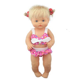 Nowe modne Bikini Fit 40cm 41cm lalka Nenuco Ropa y su Hermanita fioletowe długie rękawy T-shirt fioletowe kropki spodnie z kapeluszem tanie i dobre opinie Cloth Unisex Moda Akcesoria Suit Akcesoria dla lalek