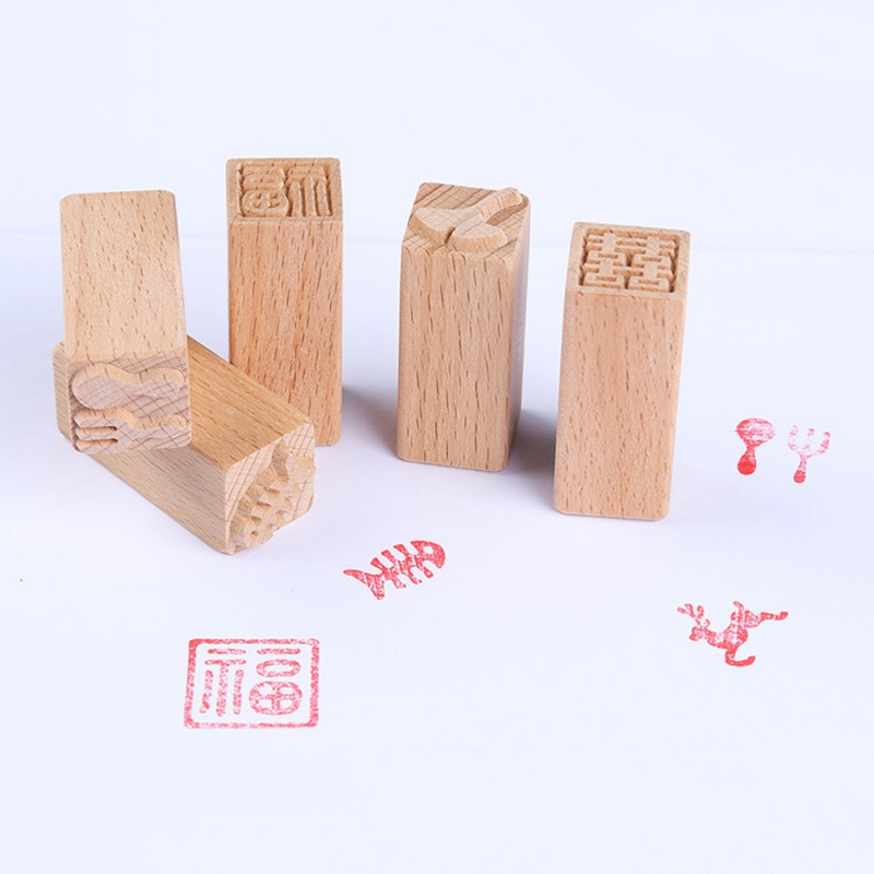 Cake Mold Wood Dessert Seal Stamp Traditional Chinese Moon DIY Cookie Baking Molds Cake Decorating Tools Mid-autumn Festival