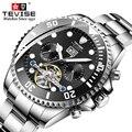 Relógios mecânicos masculinos tevise luxo marca qualidade relógio de pulso multifuncional luminosa à prova dself água auto enrolamento automático relógio