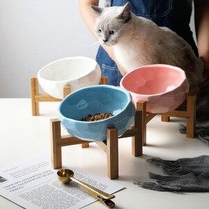 Diamentowe ceramiczne miski dla zwierząt miska dla psa ukośne karmnik dla zwierząt o dużej pojemności na wysokiej stopce ukośne miski ochrony kręgosłupa miska dla kotów