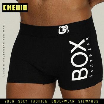 CMENIN Sexy bielizna mężczyźni bokserki Cueca męskie majtki miękka bawełniana moda mężczyźni pod nosić bielizna kalesony 3D etui szorty OR212 tanie i dobre opinie List COTTON 5 Color M-2XL Breathable Soft