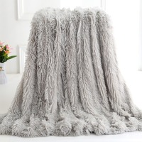 Winter Thicken Warm Blankets Super Soft Long Plush Blanket Faux Fur Fluffy Sherpa Throw Blanket To Sofa Bedding Christmas Gift