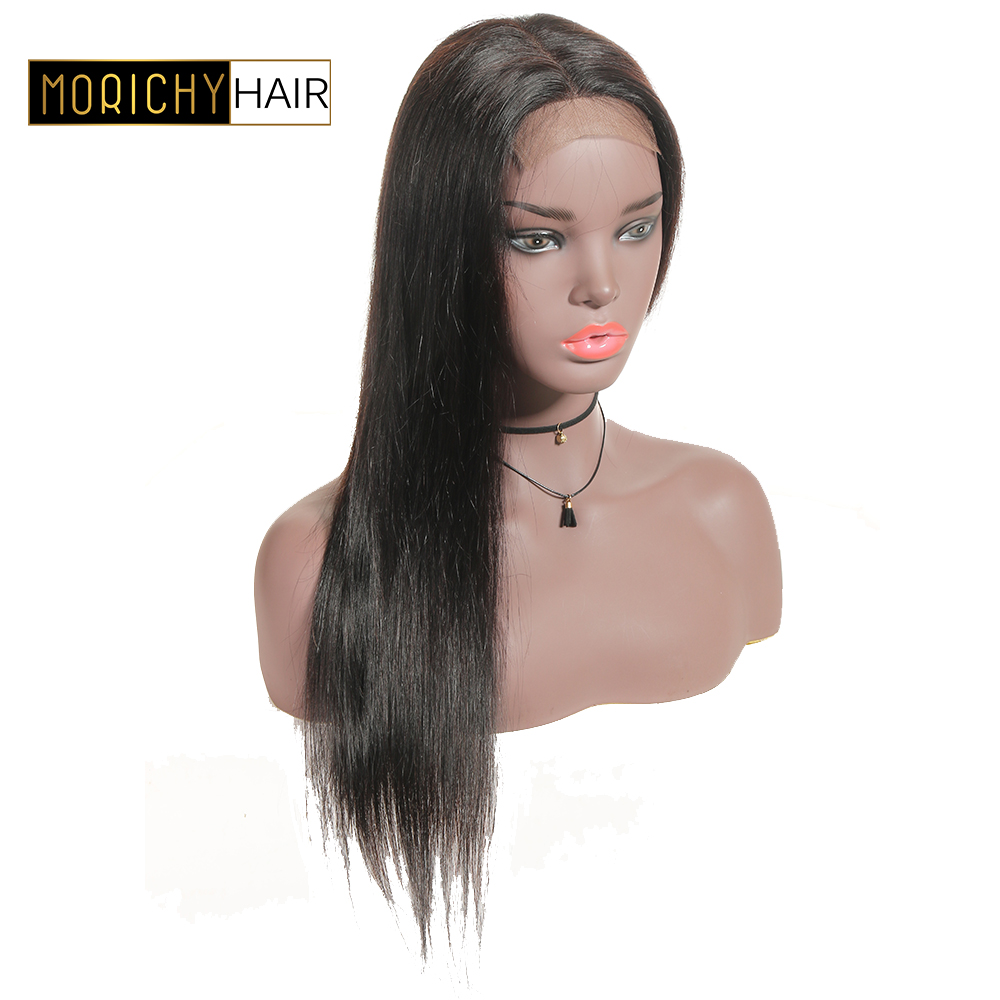 Morichy Long Straight Hair Wigs 4x4 Lace Closure Wig 150% Density Human Hair Wig For Black Women Silk Top Glueless Remy Hair Wig