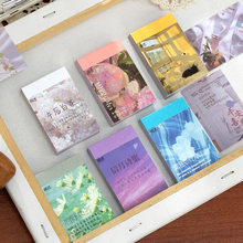 50 Sheets/pack Natural Scenery&Art Paintings Stationery Stickers Book Aesthetic Landscape Cute Bullet Journaling Decor Sticker