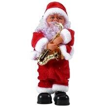 Промо-акция! Креативный Рождественский Электрический Санта-Клаус Поющая Танцующая кукла с саксофоном игрушка Новогодний подарок для детей игрушка Navidad Xma