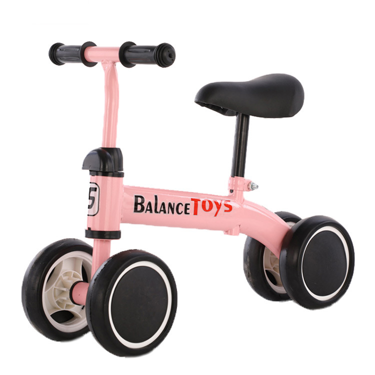 Children's Balance Bike Scooter for 1-3 Years Old Baby Learn Walk Car Four Wheels Outdoor Sports Bicycle Kids Toy Non-inflatable