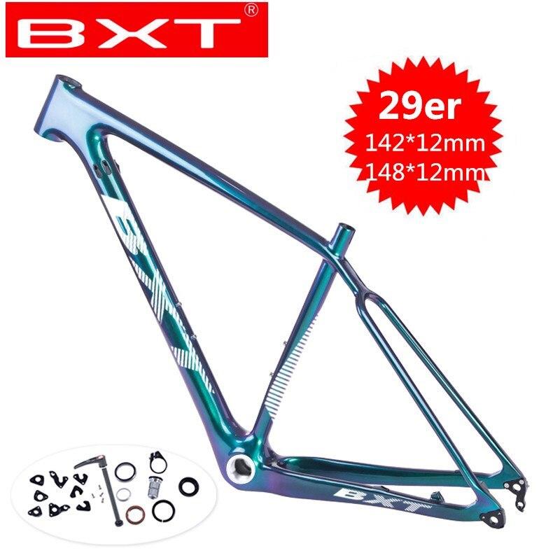 Carbon Mountain Bike Frame 29er Boost 148*12mm MTB Bicycle Frame Disc Brake Full Carbon Fibre Frame Bike 29er S/M/L Carbon Frame