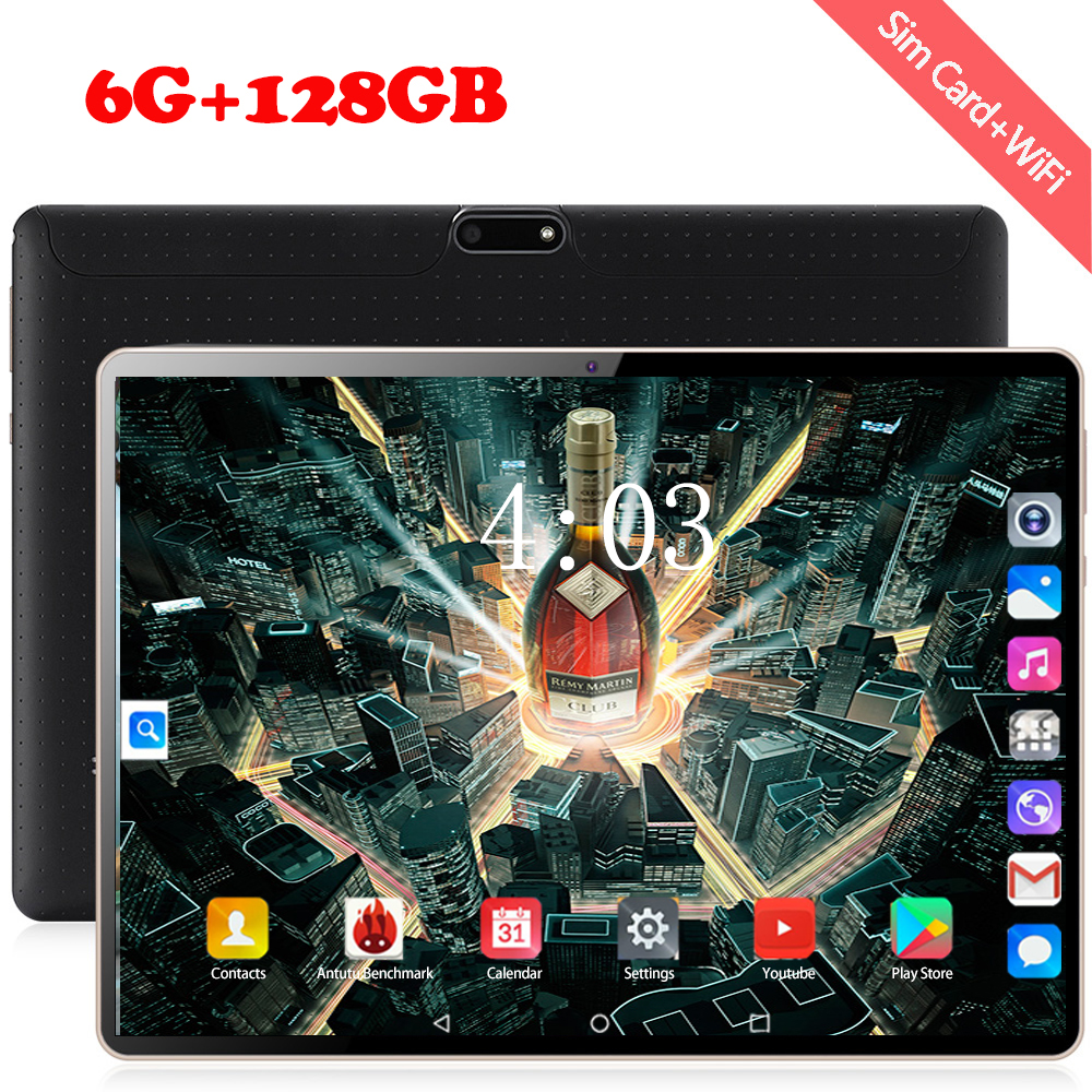 2020 5.0MP Camera Android 8.0 10.1 Inch 4G LTE Phone Tablet PC 10 Core RAM 6GB ROM 128GB 1920*1200 IPS Dual SIM Card Tablets Pcs