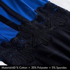 Image 5 - Güzel sonsuza kadar zarif dantel Patchwork ofis vestidos İş Bodycon kadın elbise B569