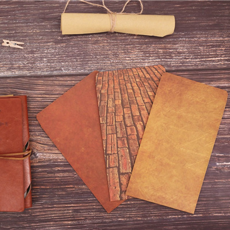1Pc Coloffice Vintage Envelope Creative Kraft Paper Envelopes DIY Decorative Envelope Small Paper School Office Supplies