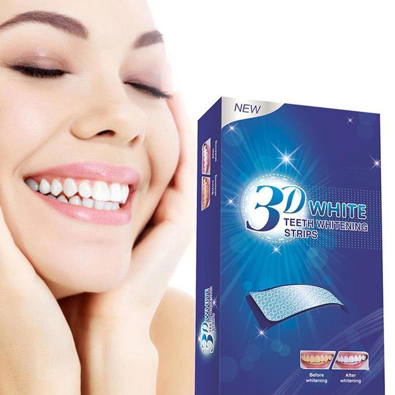 Полоски 3D гелевые для отбеливания зубов, набор для ухода за искусственными зубами и винирами, гигиена полости рта, 28 шт./14 пар