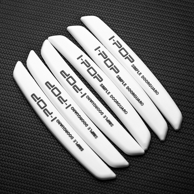 6Pcs Auto Car Door Edge Protection Guards Buffer Trim Molding Protection Strip Scratch Protector Car Door Crash Bar For BMW Audi