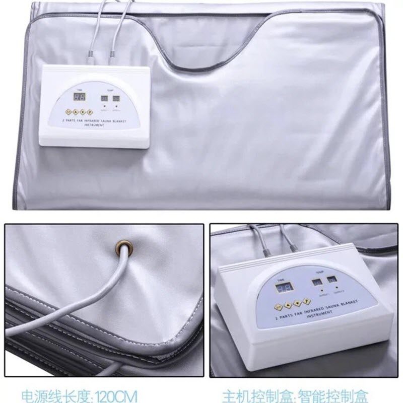 Одеяло для сжигания жира с 2 зонами, для похудения, терапии, Детокс, Красота и здоровье