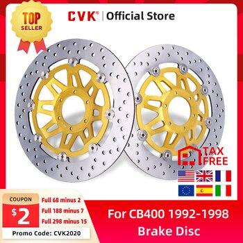 цена на Front Brake Disc Plate Brake Disks For Honda CB400 92-98 1992 1993 1994 1995 1996 1997 1998