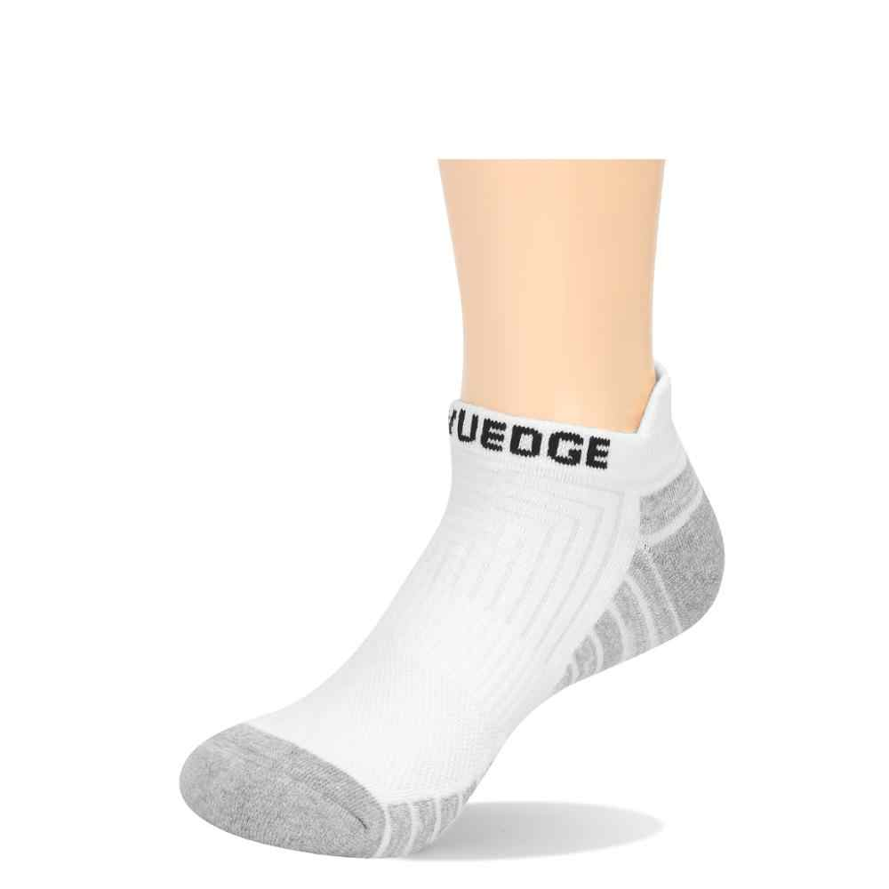 YUEDGE MenและWomen Airเบาะผ้าฝ้ายBreathable Casual Runningรองเท้ากีฬาLow Cutถุงเท้าข้อเท้า (5 คู่/แพ็ค)