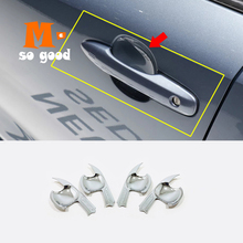 2019 2020 for Toyota Corolla E210 Sedan Car ABS Chrome Door Protector Handle Bowl Cover Trim Auto Styling Accessories 4pcs abs chrome for ford explorer 2020 2021 car styling accessories 4pcs car door handle door protector handle bowl cover trim