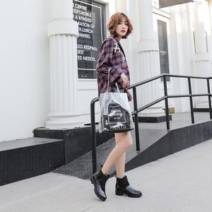Image 5 - SWYIVY Chelsea Boots Women Ankle Rain Boots 2019 Autumn Fashion Waterproof Non slip Gumd Boots Women Casual Shoes Rainboot