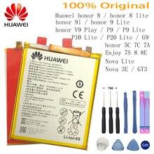 Hua Wei original Real 3000mAh HB366481ECW For Huawei p9/p9 lite/honor 8/p10 lite/y6 II/p8 lite /p20 lite/p9lite battery+Tool стоимость
