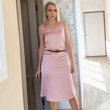 Сексуальное атласное платье с v образным вырезом на тонких бретелях