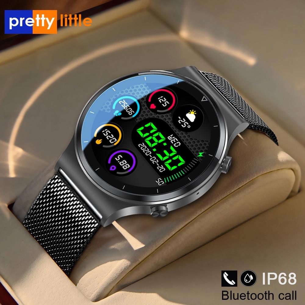 Новые смарт-часы с Bluetooth вызовом, мужские S-600, IP68, водонепроницаемые, полный сенсорный экран, спортивные фитнес-часы, на заказ, для Android IOS