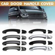 Car Front ABS Carbon 3 / 4 Door Handle Covers Handles For VW Transporter T5 2003 - 2015 T6 2016 Caddy for Vans Multivan Sticker(China)