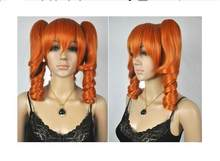 Zhaoxia + + 07708 @ Q8 @ * + + + Fashion Medium Orange Keriting Kuncir Ekor Kuda Cosplay Wanita Wanita Rambut Wig g112(China)