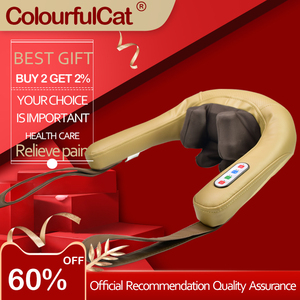 Neck and Back Massager with He