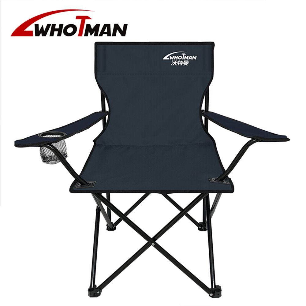 Chair Furniture Outdoor with Backrest for Travelling Hiking Picnic Camping Arm Folding title=