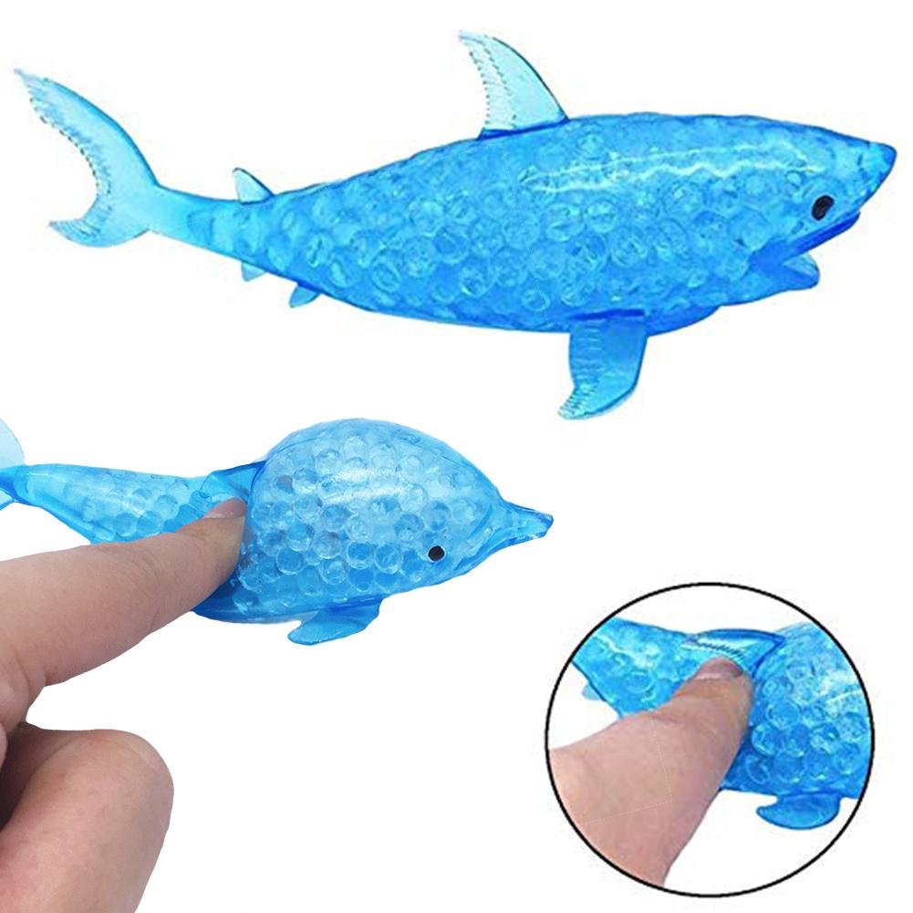 Kawaii Colorful Shark Doll Slow Rising Stress Relief Squeeze Toys For Baby Kids Xmas Gift