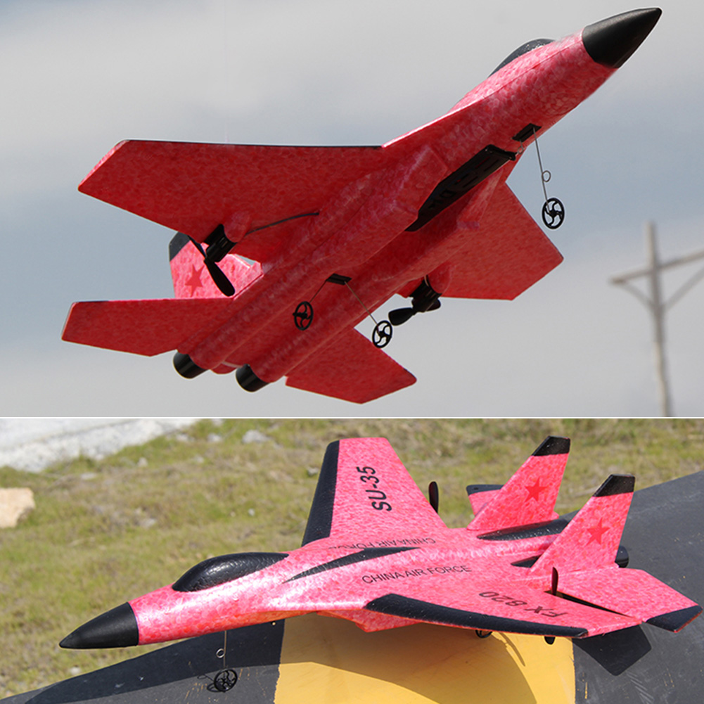 SU-35 2.4GHz Powerful Motor Electric EPP Foam 4 Direction Birthday Gift Kids Toy Indoor Outdoor RC Airplane Glider Model image