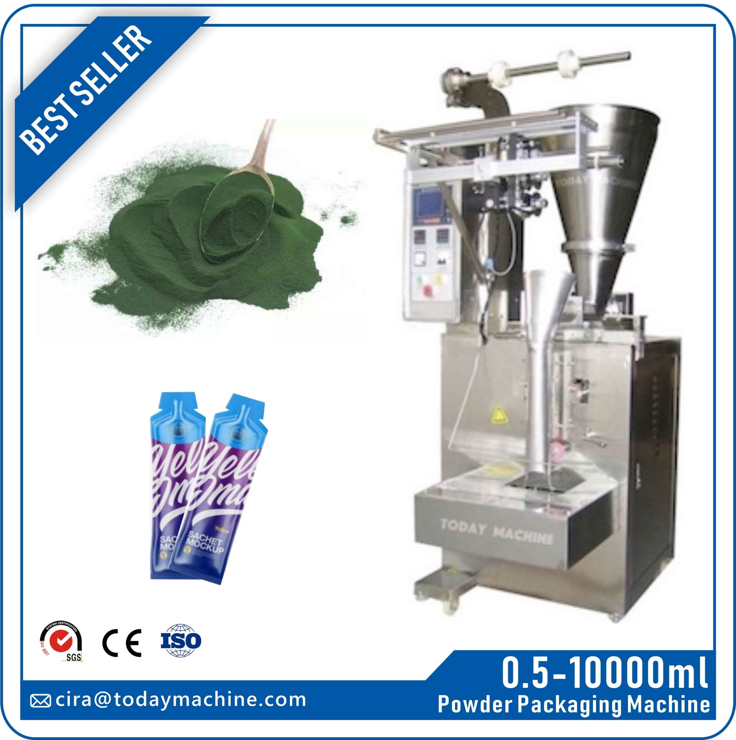 CBD Automatic 500g 1kg Powder Filling Ground Coffee Packaging Machine