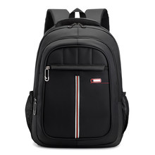 Computer backpack nylon material waterproof bag business black men's backpack travel outdoor bag(China)