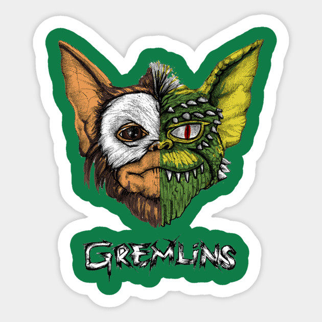 Gremlins Gizmo diy 90s Art print notebook phone luggage laptop bicycle scrapbooking album decals stickers image