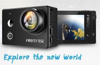 En existencia Hawkeye Firefly 8SE Cámara de Acción con pantalla táctil 4K 30fps 170 grados Super-View Bluetooth FPV cámara de acción deportiva