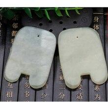 1PCS Natural Jade Stone Guasha Board Health Care Beauty Tool