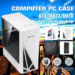 Чехол для игрового компьютера с акриловыми боковыми панелями ATX/MATX/MITX, USB3.0, поддержка 120 мм, чехол для ПК с водяным охлаждением