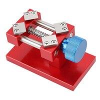 Screw Adjustable Universal Table Jaw Craft Sculpture Clock Watch Repair Tool Vise Clamp DIY Aluminium Alloy Mini