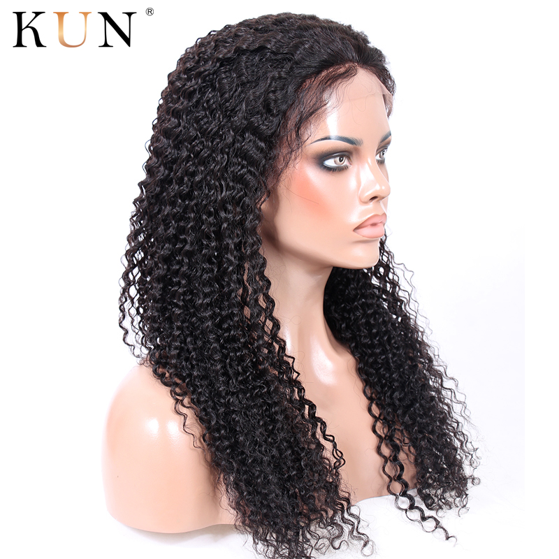 360 Lace Frontal Wig 150 180% Density Kinky Curly Lace Front Human Hair Wigs 360X6 Lace Wig PrePlucked With Baby Hair Remy