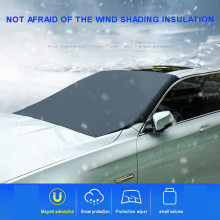 Аксессуары для экстерьера автомобиля, ветровое стекло, снежное покрытие, защита от солнца, авто солнцезащитный козырек, брезент с магнитными краями, легко удаляет ледяной мороз, полиэстер